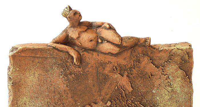 Kleiner König, Skulptur, Terrakotta, Martina Hesse